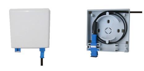 适配器—光纤跳线进行卡接,实现在个人的桌面工作区域中的光路连接,以