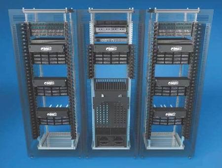 因此机柜级的布线基础结构设计必须能够支持万兆以太